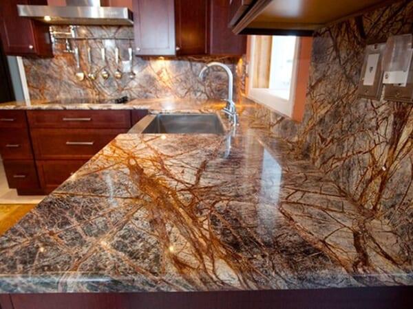 Đá Forest marble ốp bếp 10