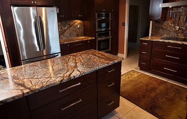 Đá Forest marble ốp bếp 4