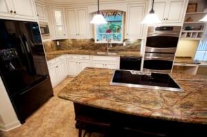 Đá Forest marble ốp bếp 6
