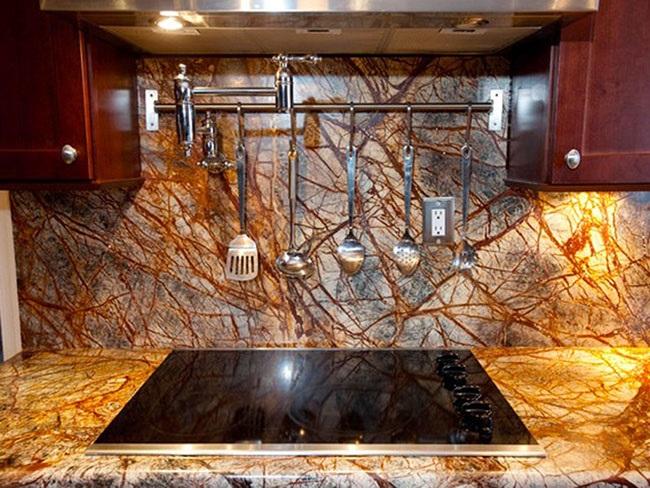 Đá Forest marble ốp bếp 9