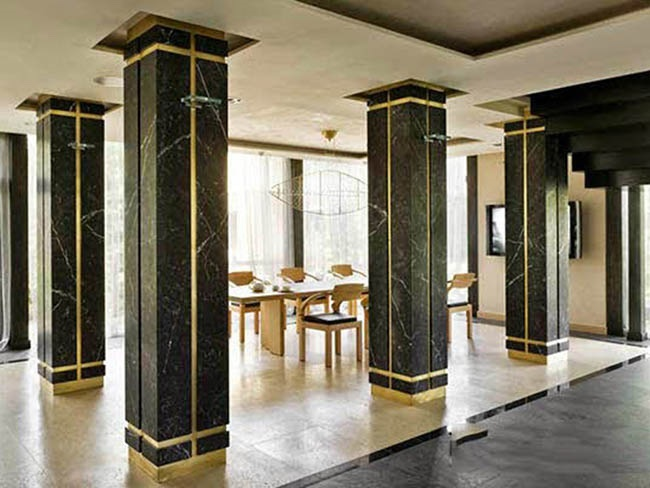 đá granite đen ốp cột vuông