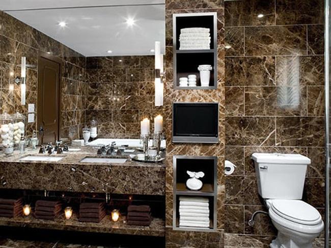 đá nâu tây ban nha ốp phòng tắm 2