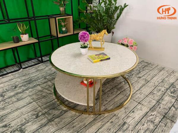 Bộ bàn trà 2 tầng khuyết đá Oman 2.0 ĐK 962 1