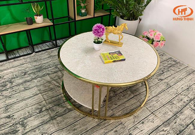 Bộ bàn trà 2 tầng khuyết đá Oman 2.0 ĐK 962 13