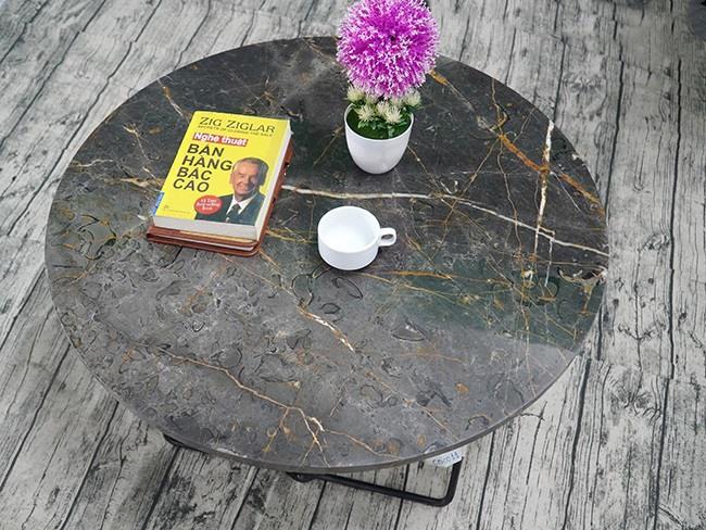 Mặt bàn trà Đá Bronzite ĐK 762 7