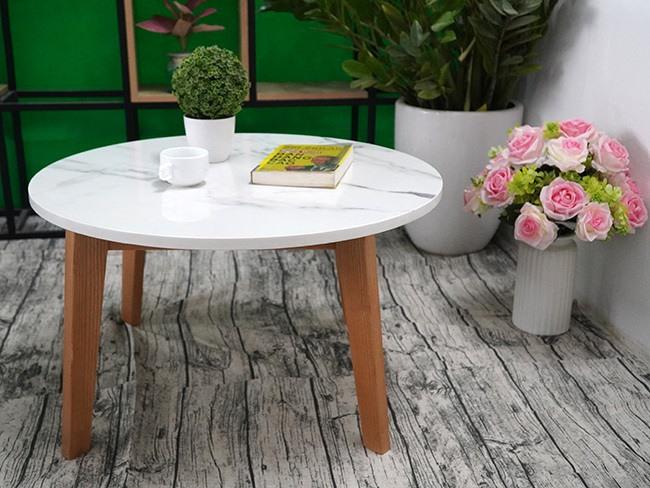 Mặt bàn trà Đá NT trắng vân dây ĐK 750 2