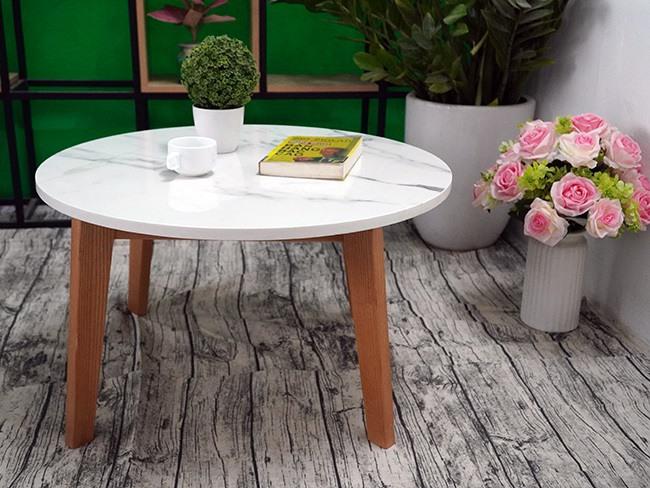 Mặt bàn trà Đá NT trắng vân dây ĐK 750 3