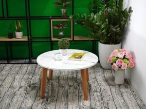 Mặt bàn trà Đá NT trắng vân dây ĐK 750 6