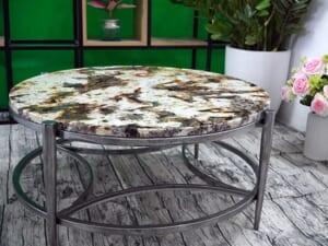 Mặt bàn trà Đá Royal Gold ĐK 800 2