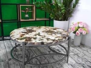 Mặt bàn trà Đá Royal Gold ĐK 800 5