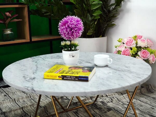 Mặt bàn trà Đá trắng Ý ĐK 760 1