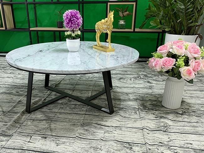 Mặt bàn trà Đá trắng Ý ĐK 760 3 1