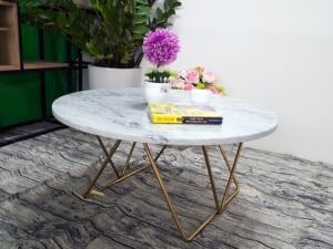 Mặt bàn trà Đá trắng Ý ĐK 760 3