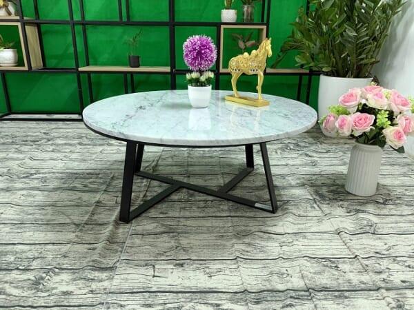 Mặt bàn trà Đá trắng Ý ĐK 760 4 1