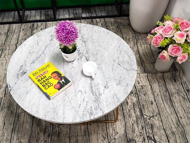 Mặt bàn trà Đá trắng Ý ĐK 760 4