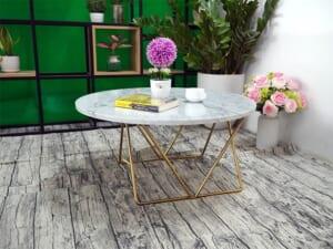 Mặt bàn trà Đá trắng Ý ĐK 760 6