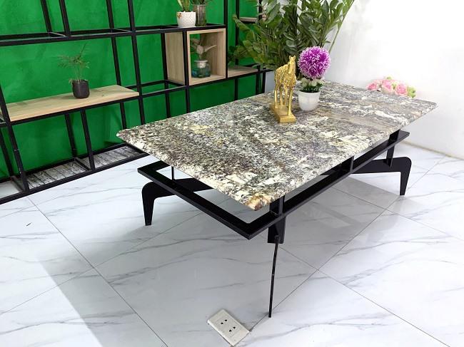 Mặt bàn trà chữ nhật Đá Audax 12