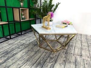 Mặt bàn trà ngũ giác Đá trắng ý ĐK 800 6