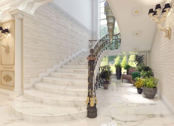 Ốp lát đá hoa văn khách sạn 1