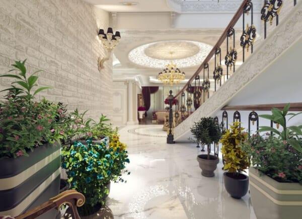 Ốp lát đá hoa văn khách sạn 2